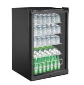 Fritstående ølkøleskab - Polar Collection 115 L Sort
