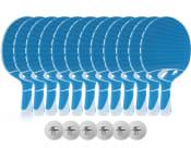 Tillbehörspaket 12-pack utomhusrack (12st Rack + 6st bollar)