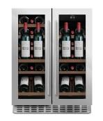 mQuvée Cantinetta vino da incasso con mensola-vetrina - WineChamber 60D2 Stainless