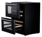 mQuvée Einbau-Weinkühlschrank - WineCave 60DD Fullglass Black