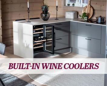 Free-standing wine cooler