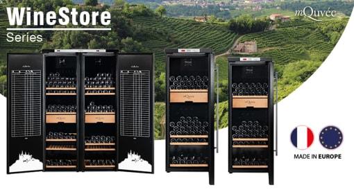 Vapaasti seisovat viinien varastointikaapit - mQuvée WineStore
