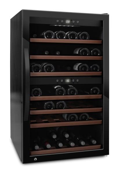 mQuvée - fristående vinkyl i fullglass black - rymmer 66 flaskor