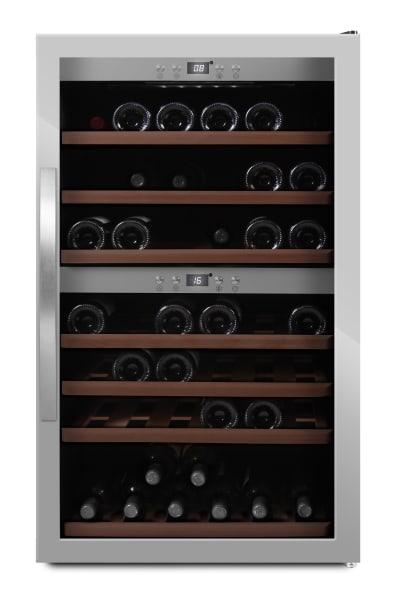 mQuvée - rostfri fristående vinkyl - rymmer 66 flaskor