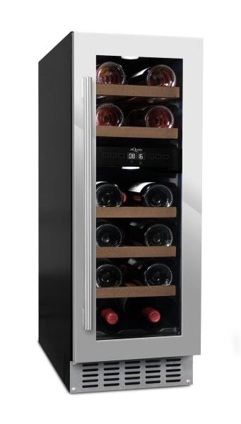 Inbyggbar rostfri vinkyl från mQuvee med 5 hyllor