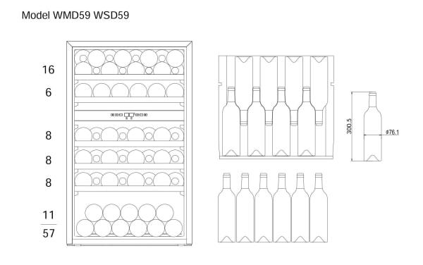 Bottle loading plan mQuvée WineMaster 59