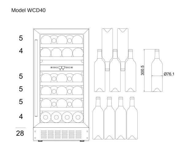 Vinoteca encastrable mQuvée - WineCave 700 40D Modern