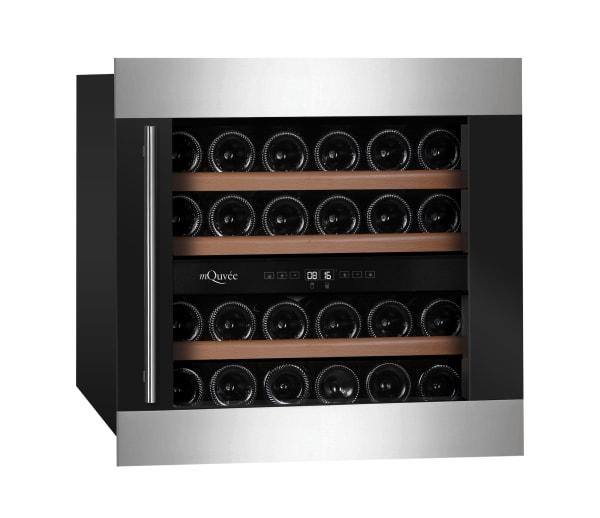 Integrerbar modern vinkyl med 3 hyllor