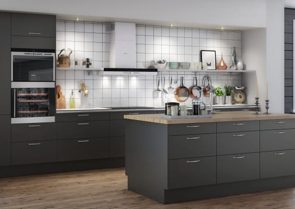 Integrerbar modern vinkyl i stilrent kök