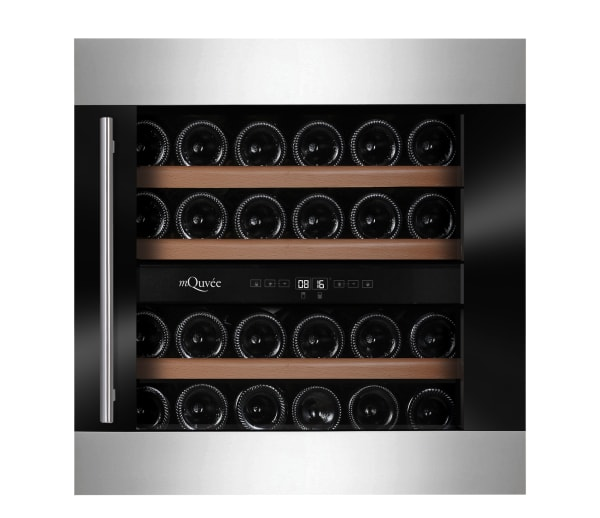 Integrerbar svart och rostfri vinkyl från mQuvée