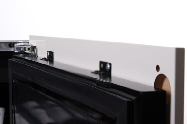 Detaljbild på liten helintegrerad vinkyl från mQuvee
