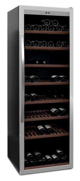 mQuvée - fristående vinkyl i stainless - rymmer 192 flaskor