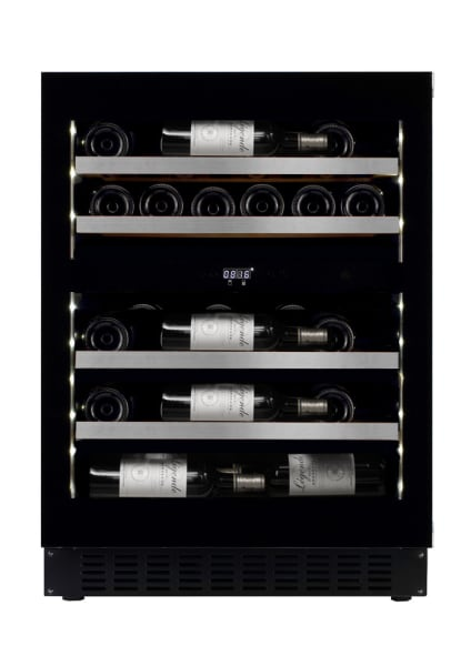 mQuvée Cave à vin encastrable - WineCave Exclusive 700 60D Fullglass Black Push/Pull