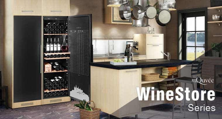 Built-in wine cabinets with space for 90-180 bottles
