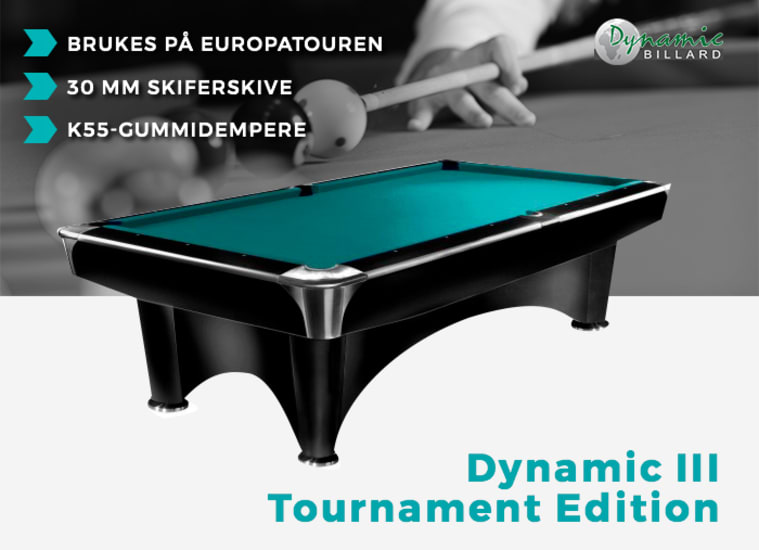 Biljardbord Dynamic Tournament Edition