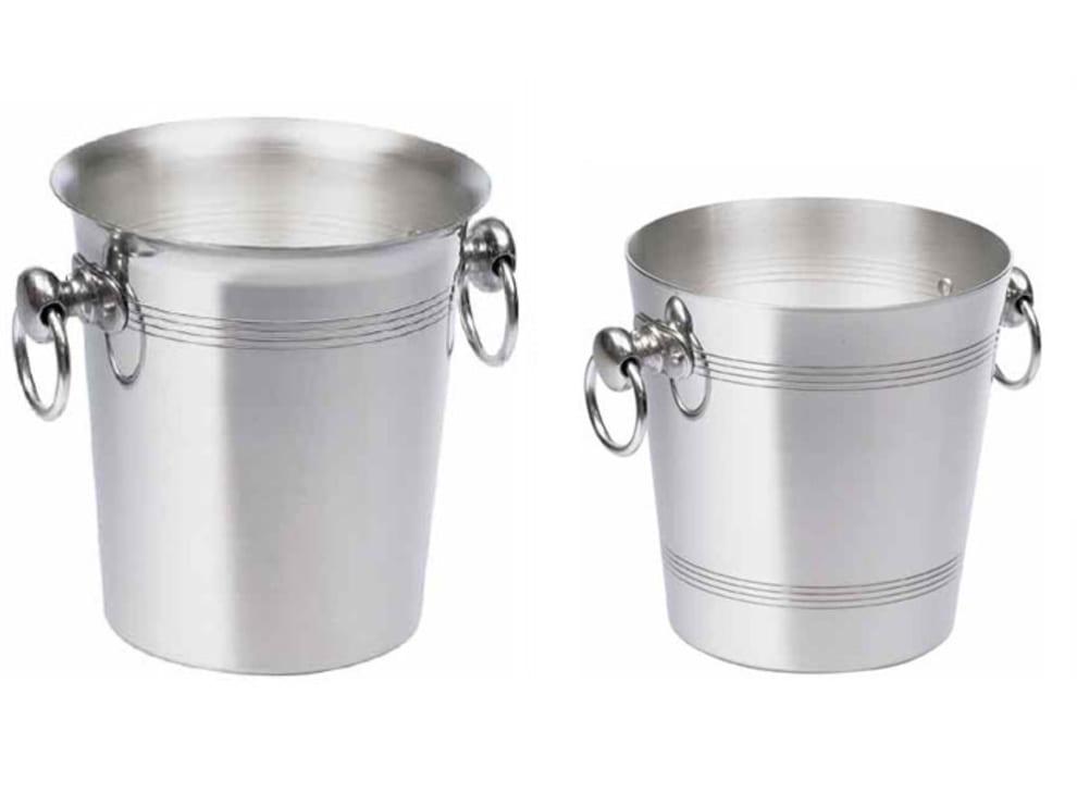 Cubo de aluminio para hielo (cepillado)