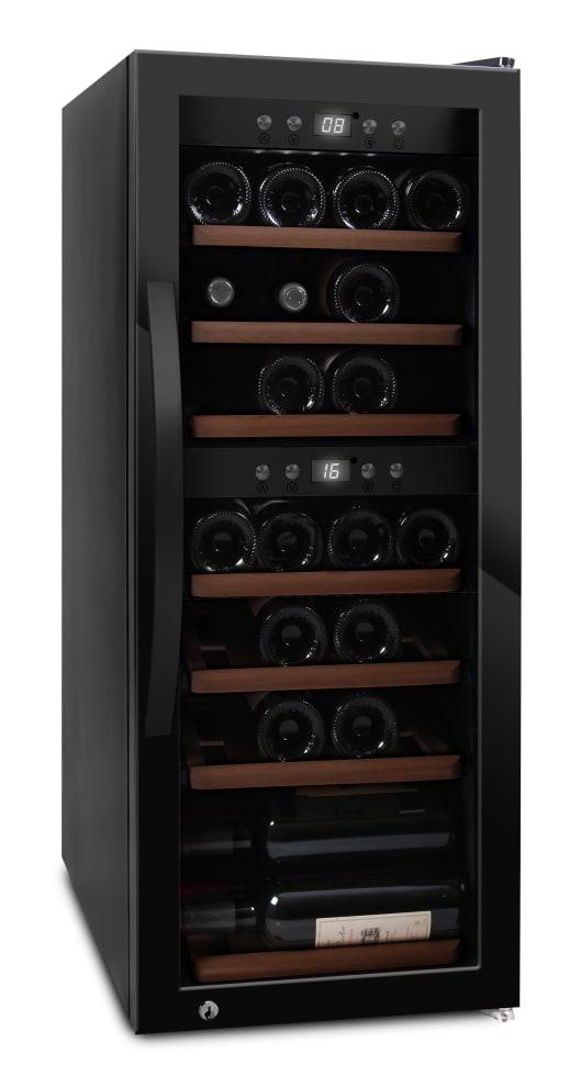 mQuvée - fristående vinkyl i fullglass black - rymmer 38 flaskor