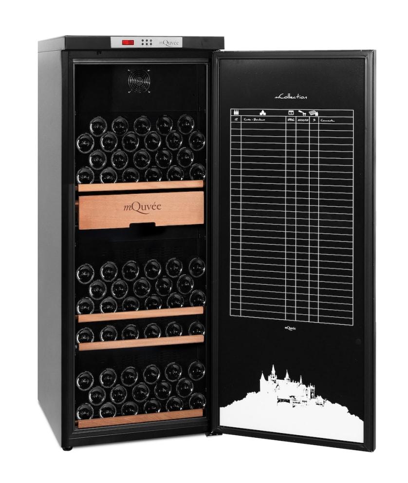 Exklusivt svart vinlagringsskåp från mQuvée