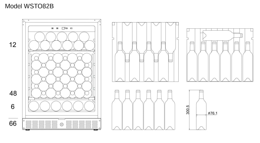 Bottle loading plan mQuvée WineStore 82