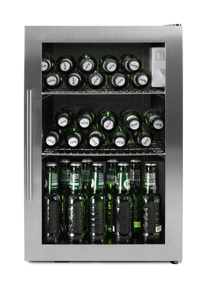 Freistehender Bierkühlschrank – 63 l Edelstahl