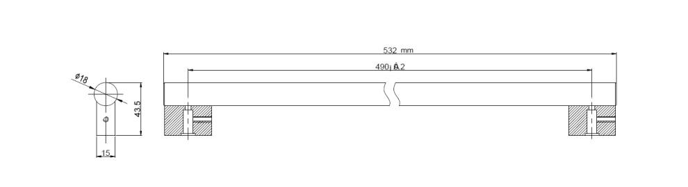 Tirador mQuvée - Anthracite Black
