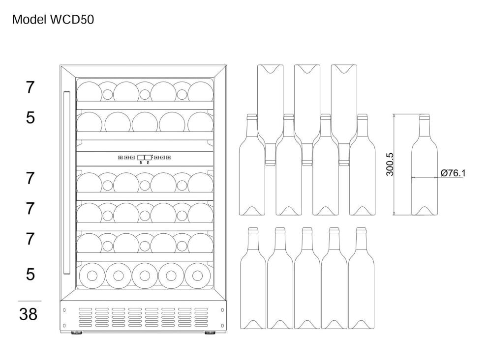 Vinoteca encastrable mQuvée - WineCave 700 50D Modern