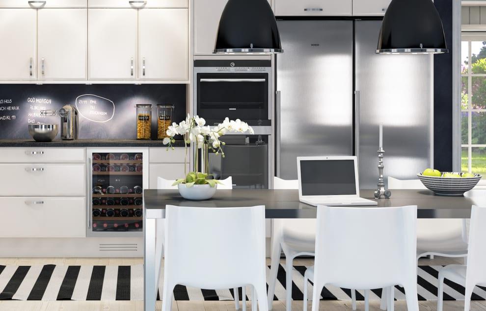 Inbyggbar rostfri vinkyl från mQuvee i kök