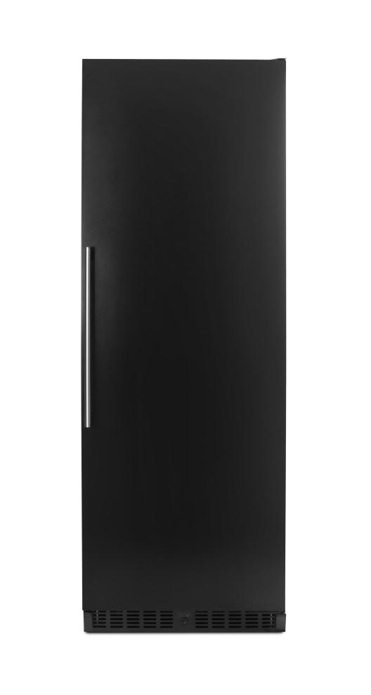Robust vinlagringsskåp från mQuvée med solid svart dörr