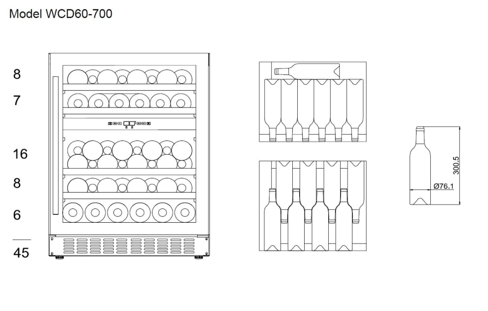 Inbyggbar vinkyl - WineCave 700 60D Custom Made