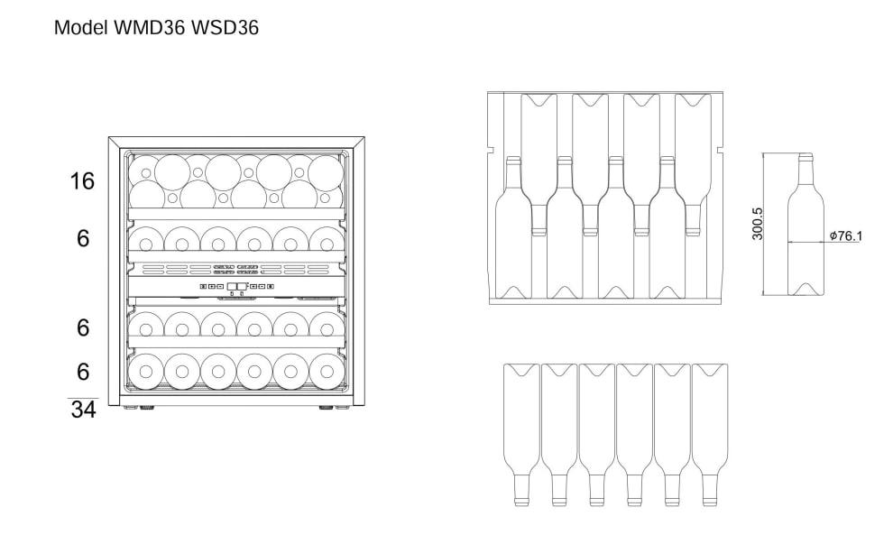 mQuvée Integrerbar vinkyl - WineMaster 36D Modern