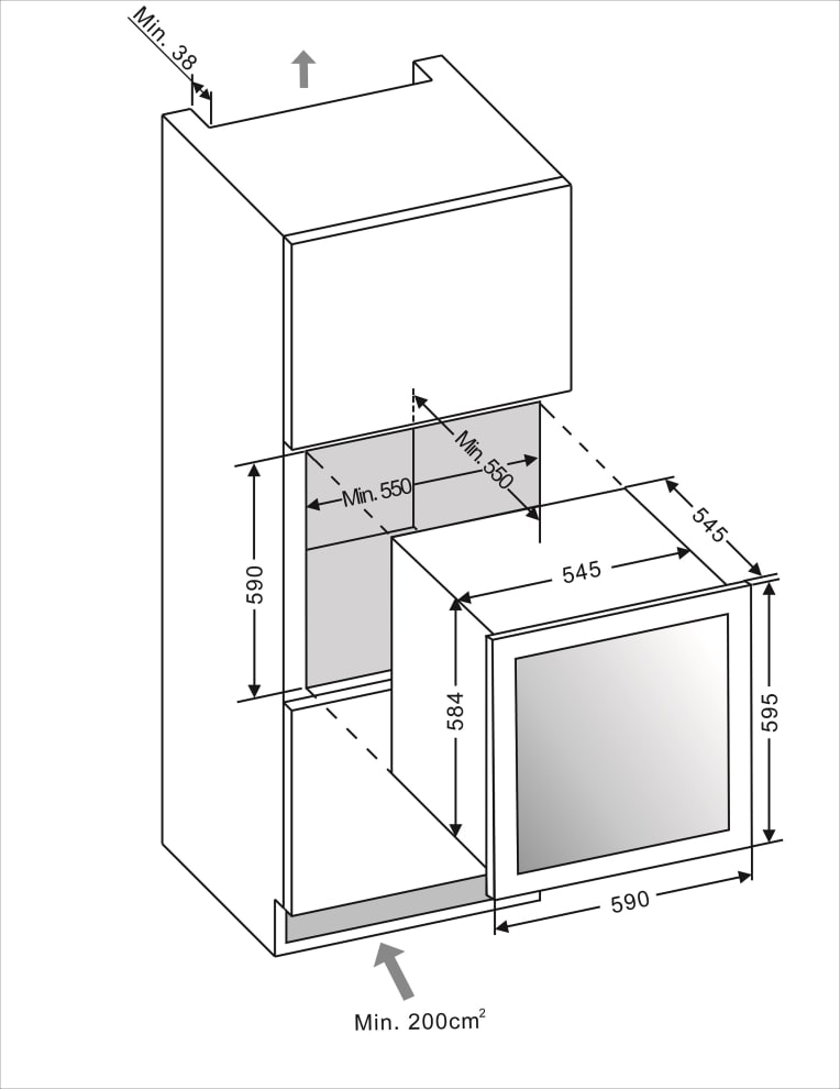 mQuvée Integrierbarer Weinkühlschrank - WineMaster 36D Modern