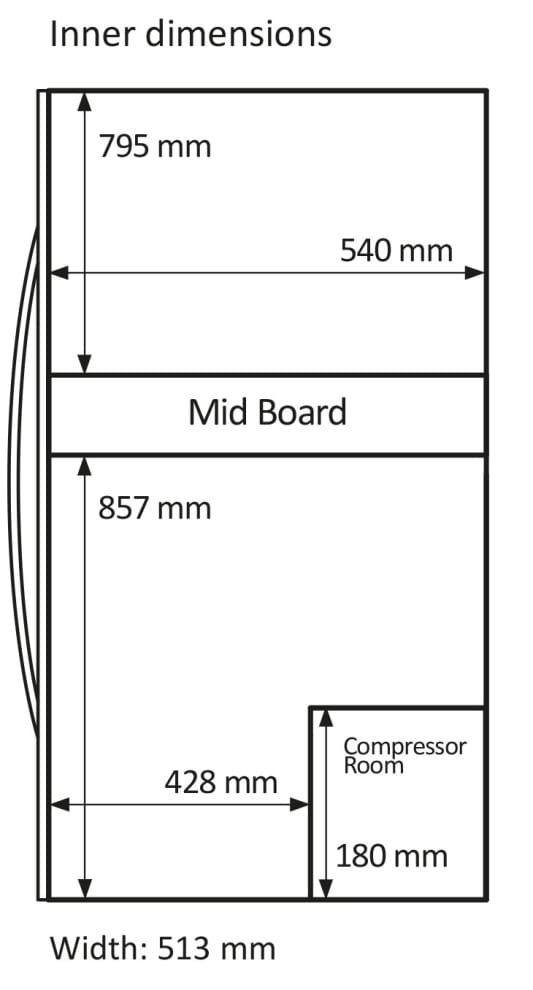 Fristående vinkyl - WineExpert 180 Stainless (B: 59,5 x H: 187 x D: 69,5 cm)