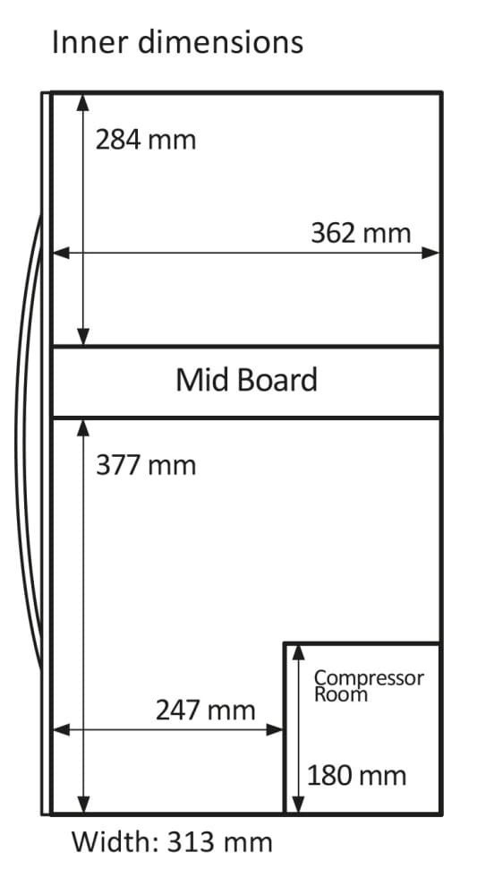 mQuvée fritstående vinkøleskab - WineExpert 24 Stainless