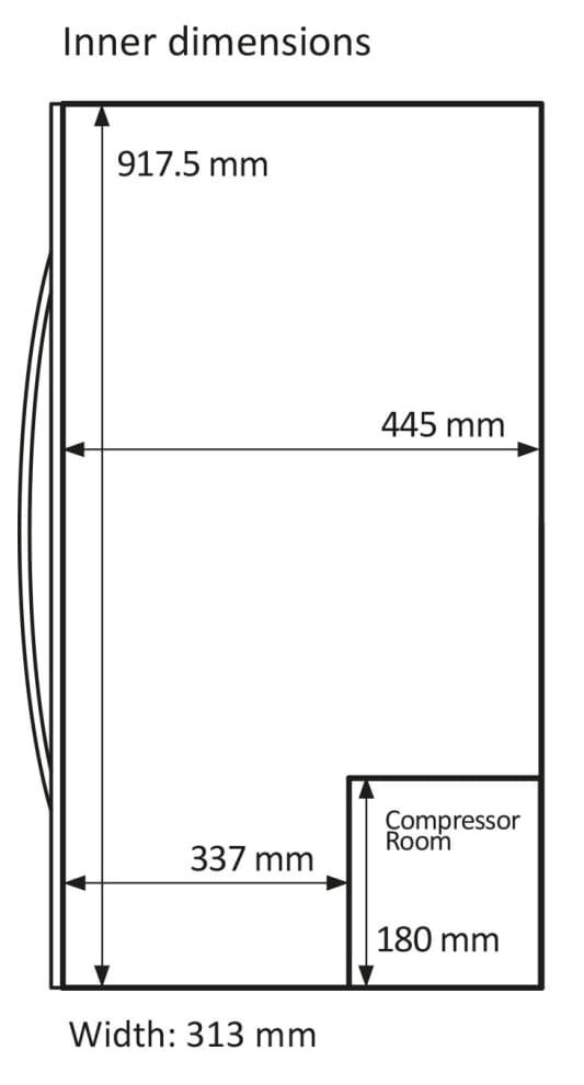mQuvée  fritstående vinkøleskab - WineExpert 43 Stainless