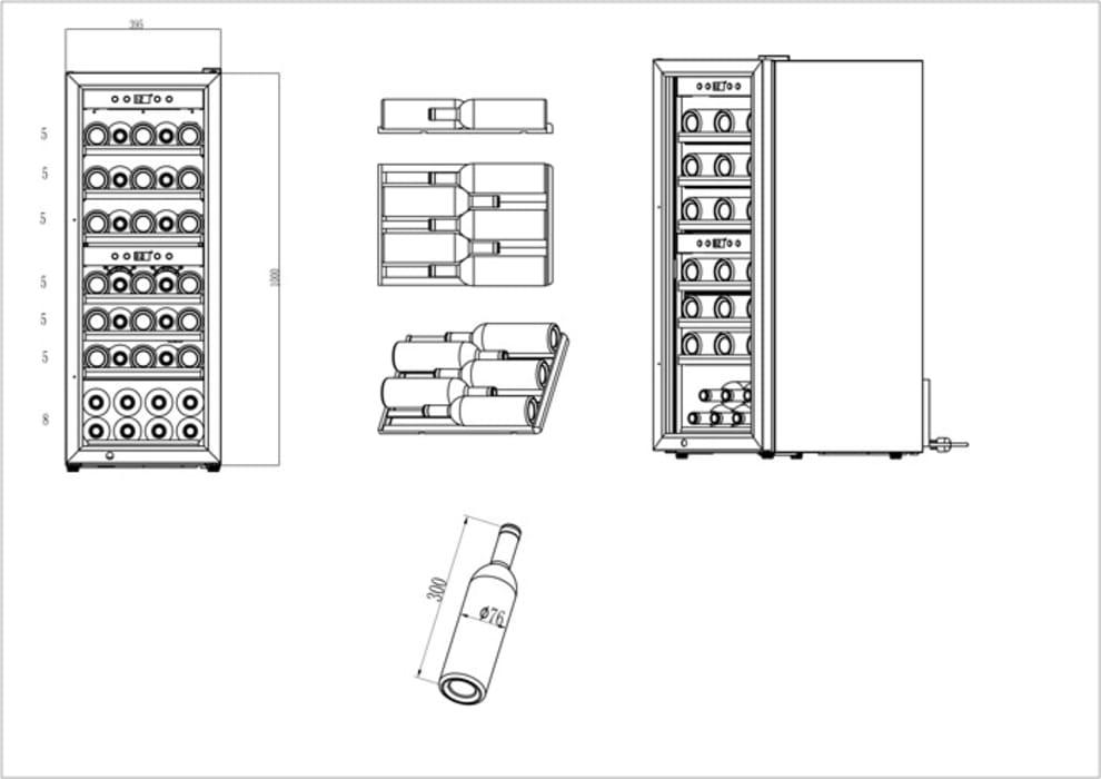 Fritstående vinkøleskab - WineExpert 38 Stainless