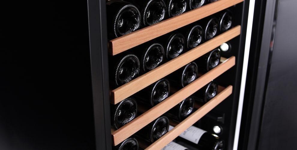 mQuvée vinopbevaringsskab - WineStore 177 - 15 hyldeplan - Anthracite Black (B: 59,5 x H: 176,8 x D: 57 cm)