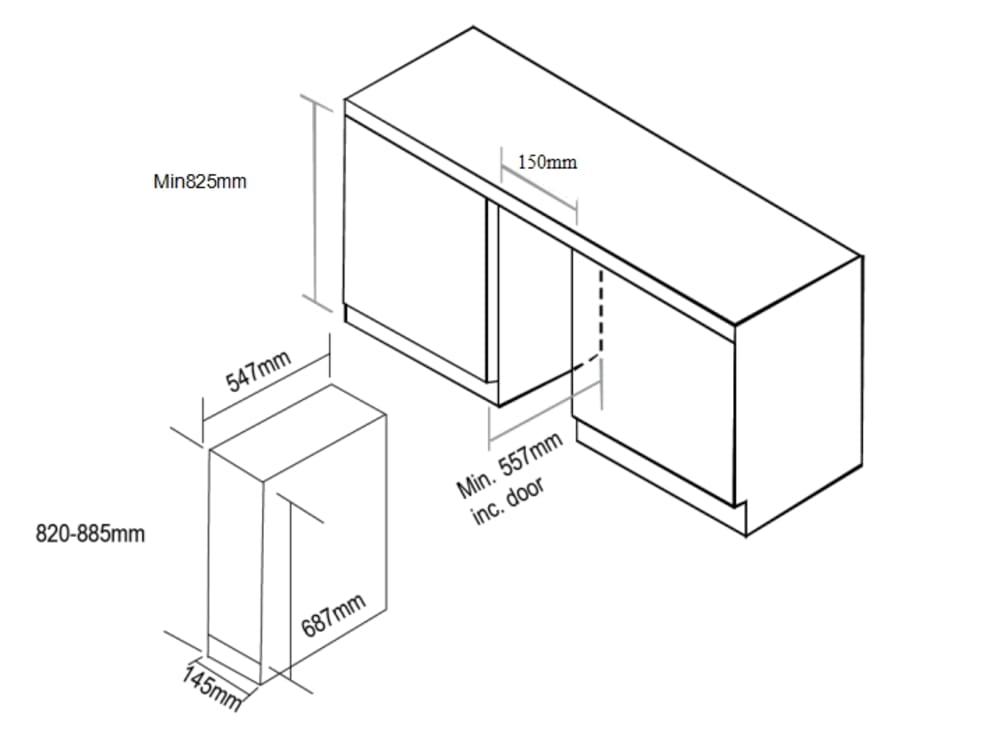Cavin vinkøleskab til indbygning – Scandinavian Collection 15