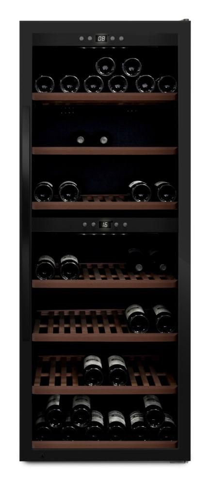 mQuvée - svart fristående vinkyl - rymmer 126 flaskor