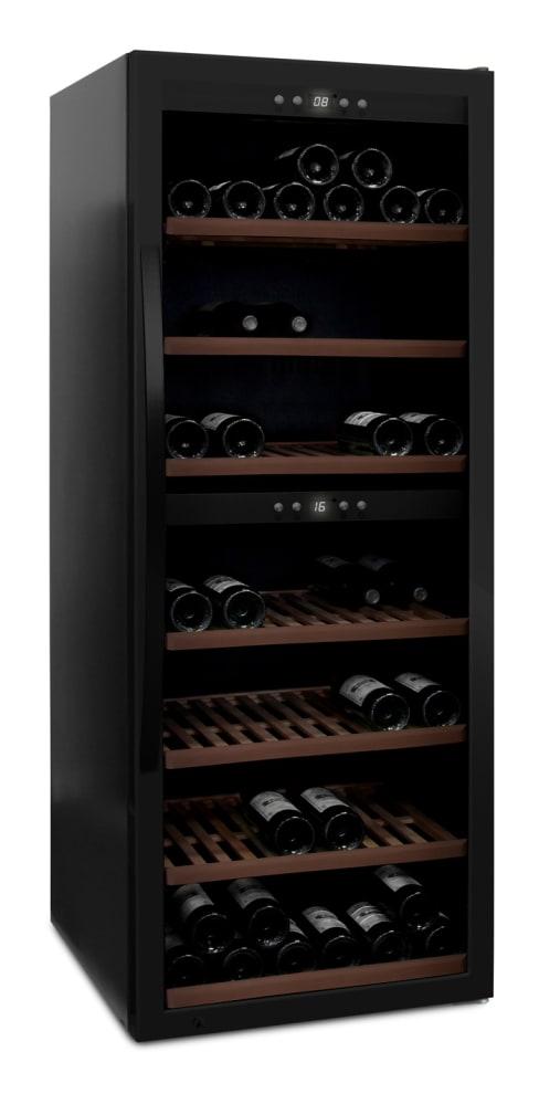 mQuvée - fristående vinkyl i fullglass black - rymmer 126 flaskor