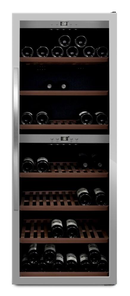 mQuvée - rostfri fristående vinkyl - rymmer 126 flaskor
