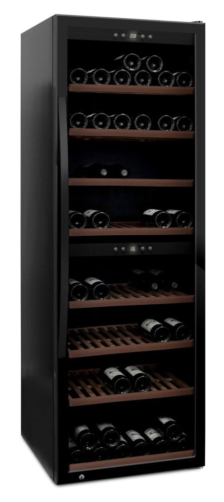 mQuvée - fristående vinkyl i fullglass black - rymmer 180 flaskor