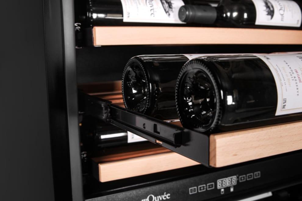 mQuvée vinkøleskab til indbygning - WineCave 187 Anthracite Black Label-view
