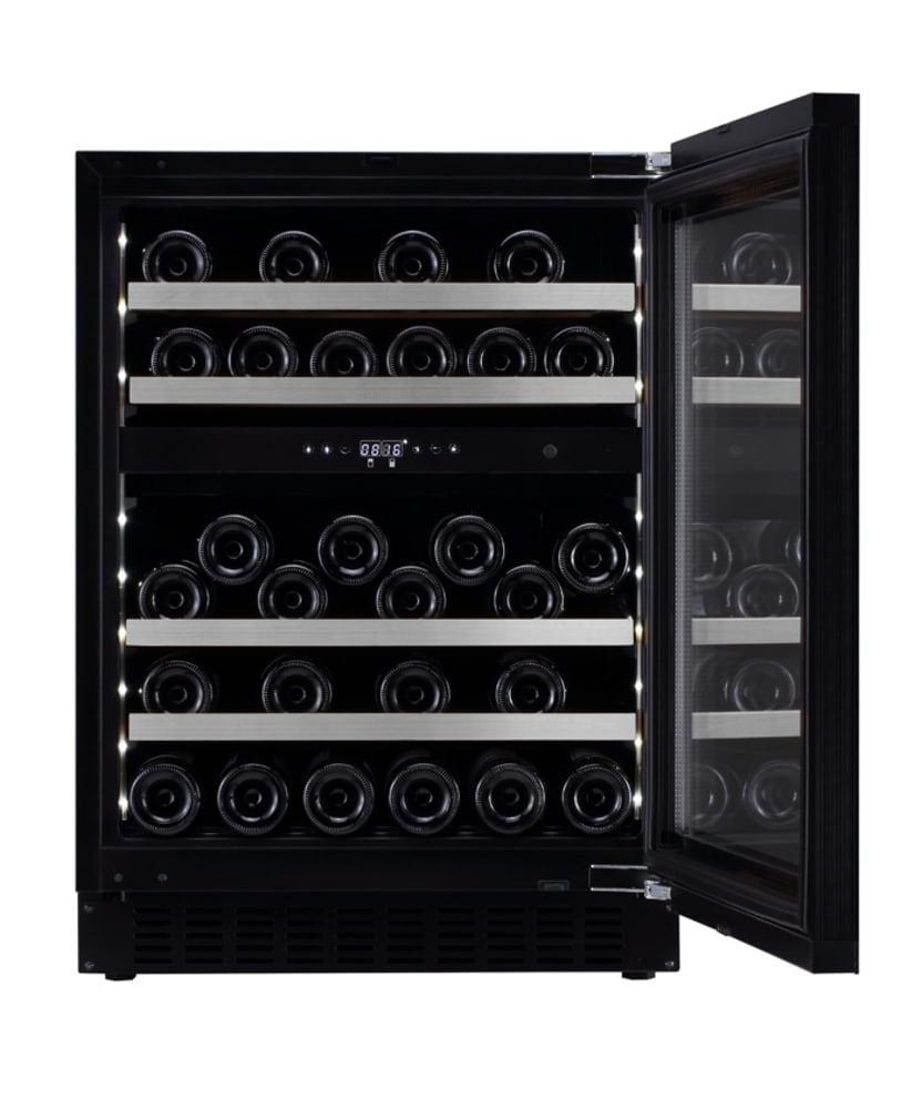 mQuvée Built-in wine cooler - WineCave Exclusive 60D Fullglass Black Push/Pull
