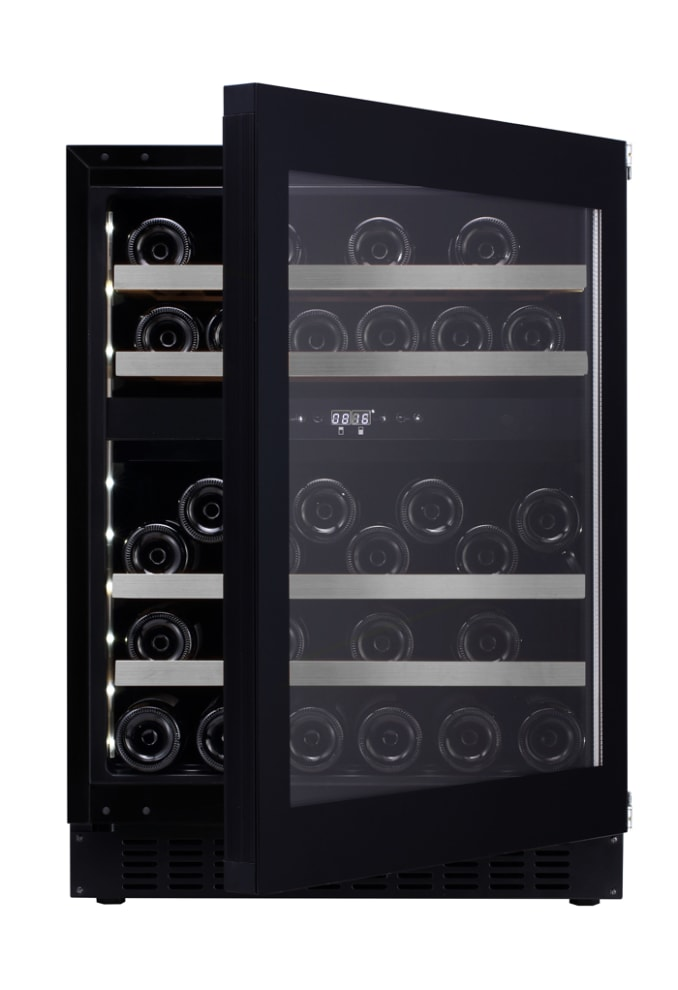 Built-in wine cooler - WineCave Exclusive 60D Fullglass Black Push/Pull