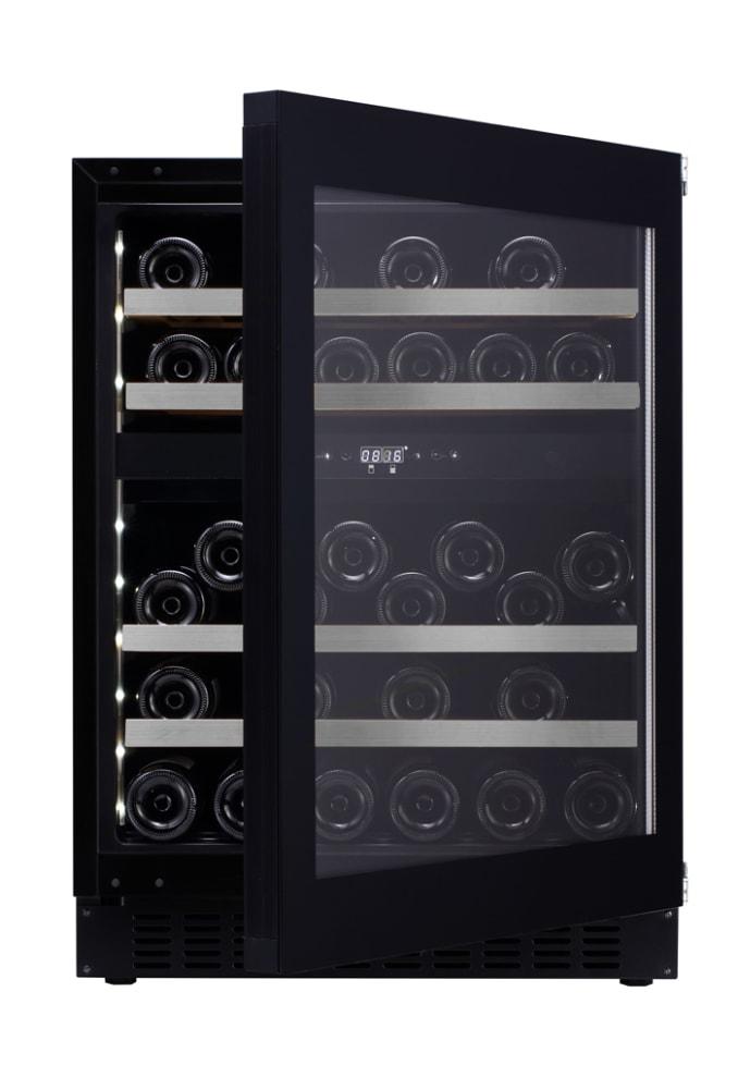 Inbyggbar vinkyl - WineCave Exclusive 60D Fullglass Black Push/Pull