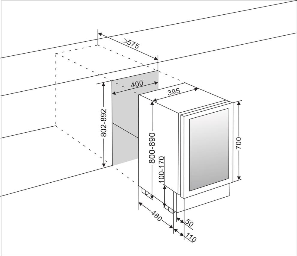 Ølkøleskab til indbygning i rustfrit stål - Subzero Beer Froster 40 cm
