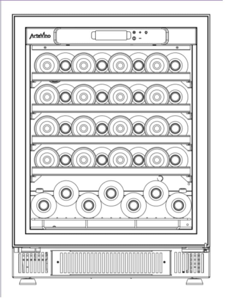 Artevino Sisäänrakennettava viinikaappi – COSY 60