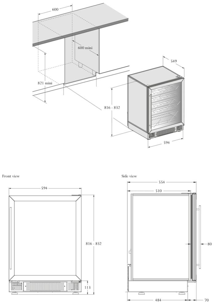 Sisäänrakennettava viinikaappi – COSY 60