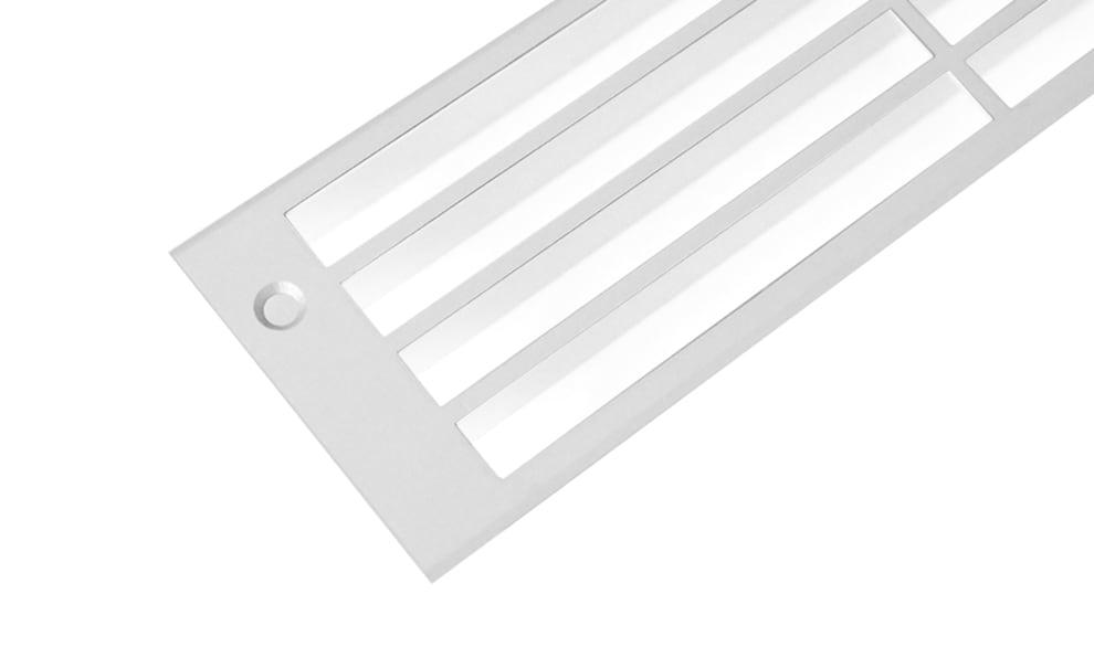 Rejilla de ventilación - aluminio (300 x 80 mm)