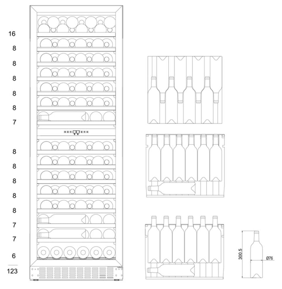 mQuvée Built-in wine cooler - WineCave 187 Anthracite Black